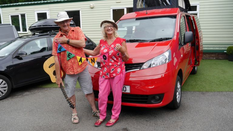 NV200 camper Sussex Campervans bunting Beano.JPG