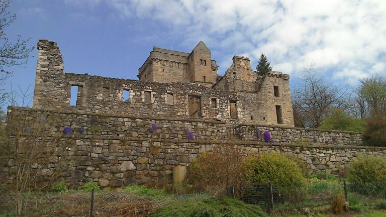 The Medieval ruin Castle Campbell overlooks Dollar Glen in Clackmannanshire.jpg